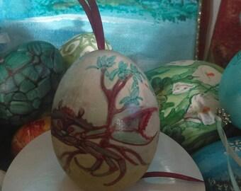 Accents Home Decor Vintage Ornaments Crab in the Mangroves Design Imajeanarium Egg Art