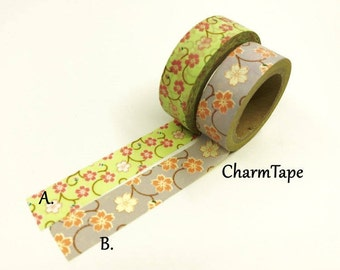 Sakura Flowers Washi Tape 15mm x 10m WT858 CRAZY SALE