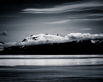 Alaska Photography Landscape Wall Art - Black and White Landscape Photo Home Decor Fine Art Photography Large