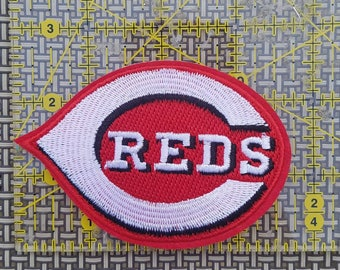 Cincinnati Reds iron on inspired embroidery patch