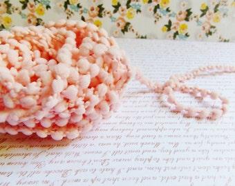 Blush Pink Mini Pom Pom Trim ~doll clothes supply, baby kids wedding hair bow band embellishment, scrapbook gift wrap tiny novelty garland