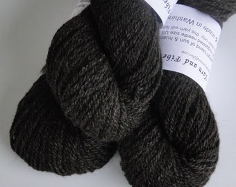 Alpaca Yarn, DK-weight Suri Blend, Dark Chocolate, Made in Washington