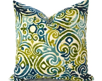 Outdoor Pillows Pillow Covers Decorative Pillows ANY SIZE Pillow Cover Outdoor Bryant Corinthian Lagoon