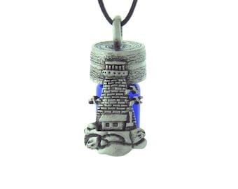 Lighthouse Essential Oil Bottle Necklace Keepsake Bottle, Treasure Bottle, Prayer Bottle,Memorial Urn,Cremation Jewelry Necklace, 6036