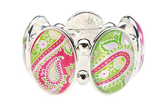 Bombay Pink Five Cameo Stretch Bracelet