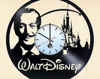 Walt Disney Vinyl Record Wall Clock Home Decor