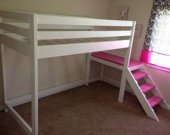 Space Saving Loft Bed High Sleeper Childrens Bunk Midsleeper Bedroom Furniture