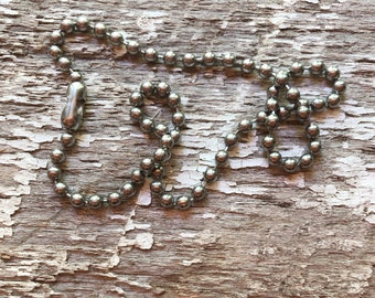 """18"""" Pewter Ball Chain"""