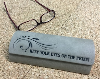 eye glass case, personalized eyeglass case, laser engraved eyeglass case