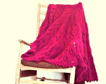 PDF PATTERN Knitted Blanket - Circular Blanket - Circle Shawl - Throw