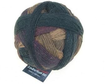 "Magic Ball 100 ""plain spruce"" Schoppel wool knit or crochet handmade merino wool"