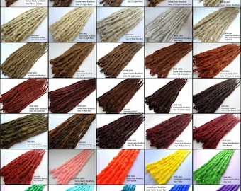 Color Reference Chart for Iconic Locks Dreadlock extensions, dreadlocks, dreads, dread extensions, synthetic dreads. 1 Piece, Single dread