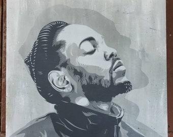 Kendrick Lamar portrait by STENZSKULL