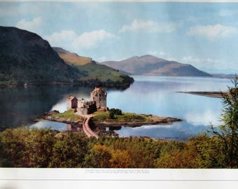 Pan American World Airways 1957 Poster of Scotland-Eilean Donan Castle