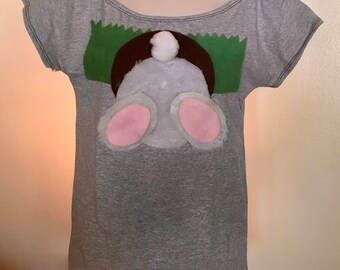 Rabbit Shirt | Funny Rabbit Tshirt | Easter Shirt | Womens Graphic Tee | Womens Shirts | Funny Gift Shirts | Stitched Shirts | Funny Tees