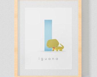 SPANISH Alphabet Letter Animal Printable