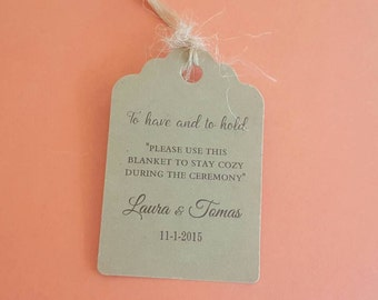 Personalized Favor Tags 2 1/2'' , Wedding tags, Thank You tags, Favor tags, blanket tag, Bridal Shower Favor Tags, Pashmina tags