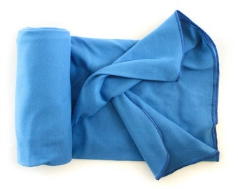 Swaddle Sale! Organic Cotton Swaddle Blanket for Baby - Marine Blue