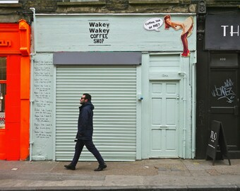 London Photography - Shoreditch Print - Wakey Wakey Shop Front