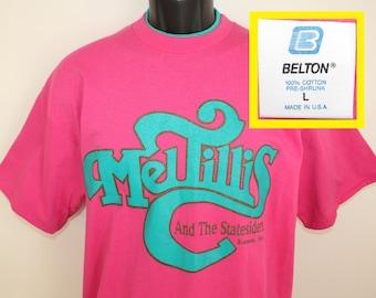 Mel Tillis and the Statesiders vintage t-shirt L fuchsia pink 90s Branson Missouri country music singer