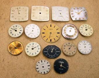 Vintage Watch Faces - set of 16 - c26