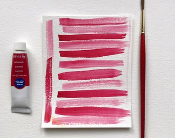 Original Painting Abstract Red Lines
