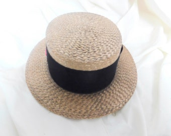 Authentic 1920s London Straw Boater Hat