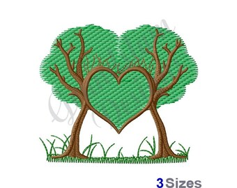 Trees Heart - Machine Embroidery Design