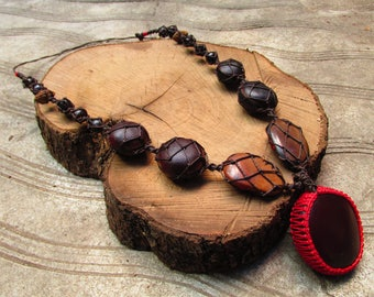 Seed necklace.