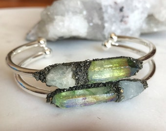Gift-for-mom, Celestial jewelry, Healing crystals and stones, boho-jewelry, aquamarine bracelet, crystal bracelet, Gemstone bracelet,