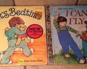1981 Two Children's First Little Golden Books