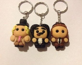 Lil Marx Brothers (Harpo, Groucho, Chico) Keyring Set