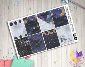 Star and Moon Vibes Full Box Decorative Planner Stickers