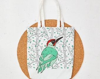 Mr Woodpecker Tote Bag