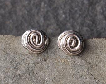 silver earrings, small silver earring studs, sterling silver stud earrings