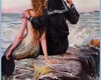 Mermaid Siren Cross Stitch Pattern PDF