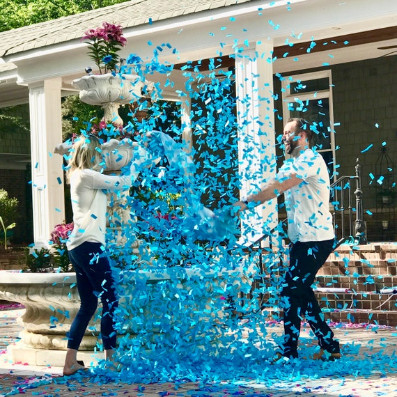 """Poof Pillows """"Pillow Fight!"""" Gender Reveal Confetti Pillow with over 10,000 Pieces! Ship Same Day!"""