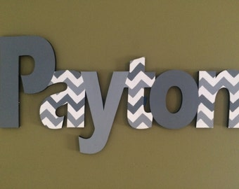 Custom Boys Name Sign - Nursery Wall Letters Name Sign - Wood Wall Letters Boy Style