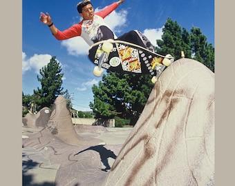 Steve Caballero Frontside Grind Skateboarding Photo 18 x 24 inch 80s Skate Photo