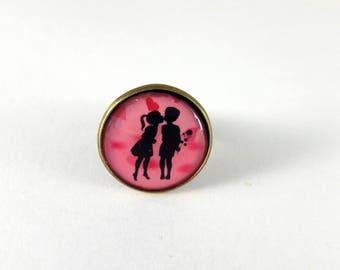 Ring adjustable children love retro vintage