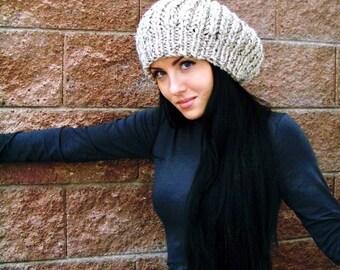 Knit Hat Pattern, Knitting Patterns Hats, Slouchy Beanie Pattern, Chunky Knitting Pattern, Slouchy Hat Pattern, Slouch Hat Pattern