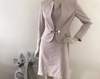 Vintage Schu by Emilio Schuberth Peplum Suit 42/8