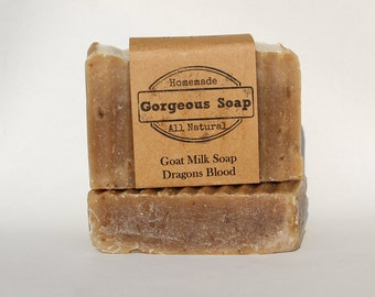 Dragons Blood Goat Milk Soap - All Natural Soap, Handmade Soap, Homemade Soap, Handcrafted Soap