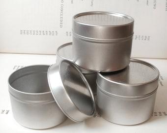 Round Seamless Tin With Solid Lids, 100ml Storage Box, Small Organizer