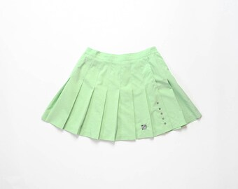 90s Pleated Mini Skirt 1990s Pastel Goth Mint Sea Foam Green Sporty Athletic Soft Grunge Kawaii Athleisure Windbreaker Tennis Skirt Small