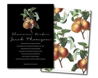 Botanical Wedding Invitation Set | DIY Wedding Printable Wedding Invitations | Custom Floral Invites | Tropical Wedding [LUSH Wedding Suite]