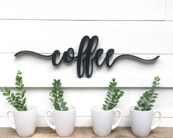 Coffee Wood Cutout | Coffee Sign | Coffee bar sign | coffee bar decor |
