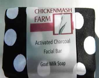 Activated Charcoal Facial Soap | Face Bar Soap | Activated Charcoal Soap | Tea Tree Oil Face Soap | Goat Milk Soap | Handmade Bar Soap