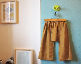 Saroual linen color ochre - 4 years