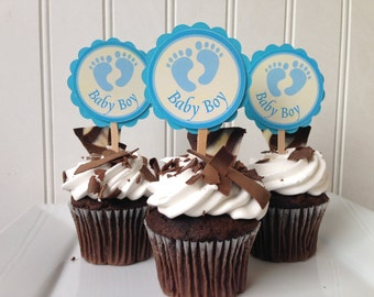 Its a Boy Cupcake Toppers